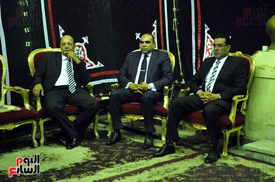 رئيس محكمة استئناف القاهرة يتلقى العزاء فى وزير العدل الأسبق (4)