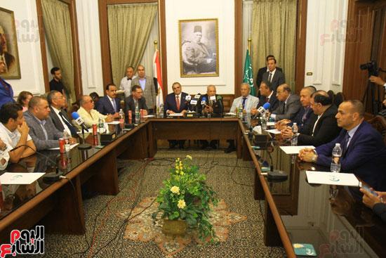 احتفالية بحزب الوفد لتكريم حسن راتب (1)