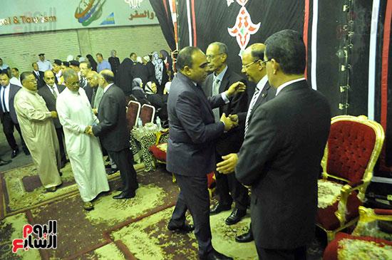 رئيس محكمة استئناف القاهرة يتلقى العزاء فى وزير العدل الأسبق (18)