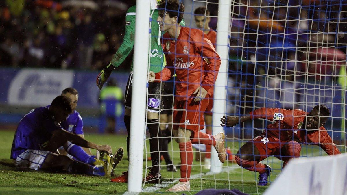 أودريوزولا بعد تسجيل هدفه فى مرمى ميليا