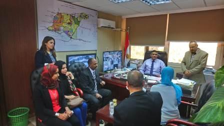 لفوج الرابع من طلاب جامعة عين شمس فى زيارة مشروع سكن مصر (2)