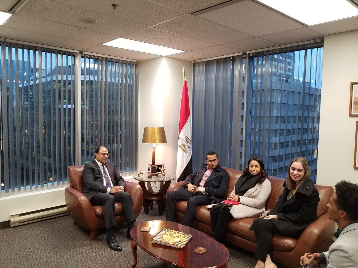 متحدث الخارجية يلتقى ممثلى كندا فى منتدى شباب العالم