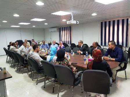 لفوج الرابع من طلاب جامعة عين شمس فى زيارة مشروع سكن مصر (1)