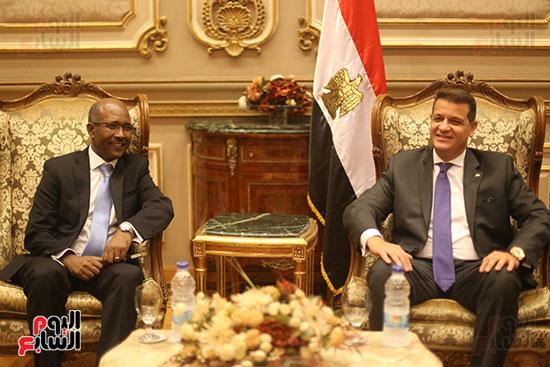 لقاء لجنة الشئوة الافريقية بسفير اثيوبيا (8)
