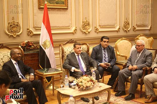 لقاء لجنة الشئوة الافريقية بسفير اثيوبيا (3)
