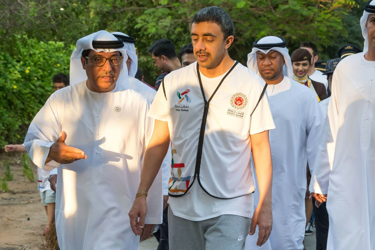 The UAE Foreign Minister is attending the March