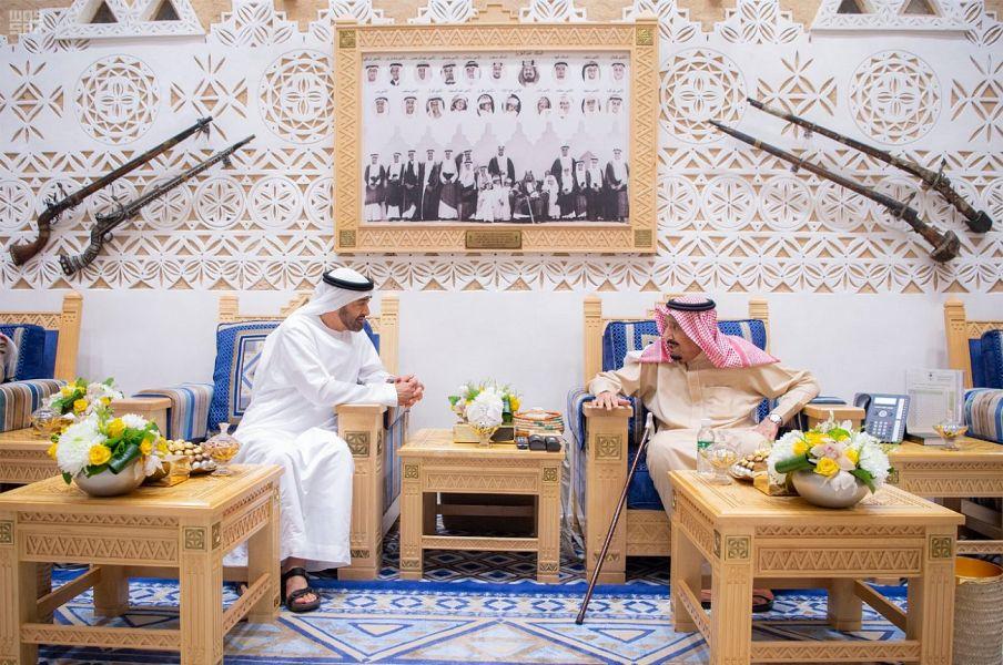 لقاء ولي عهد أبو ظبي بالملك سلمان