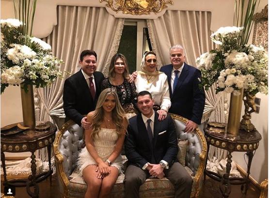 Family photo engagement ceremony