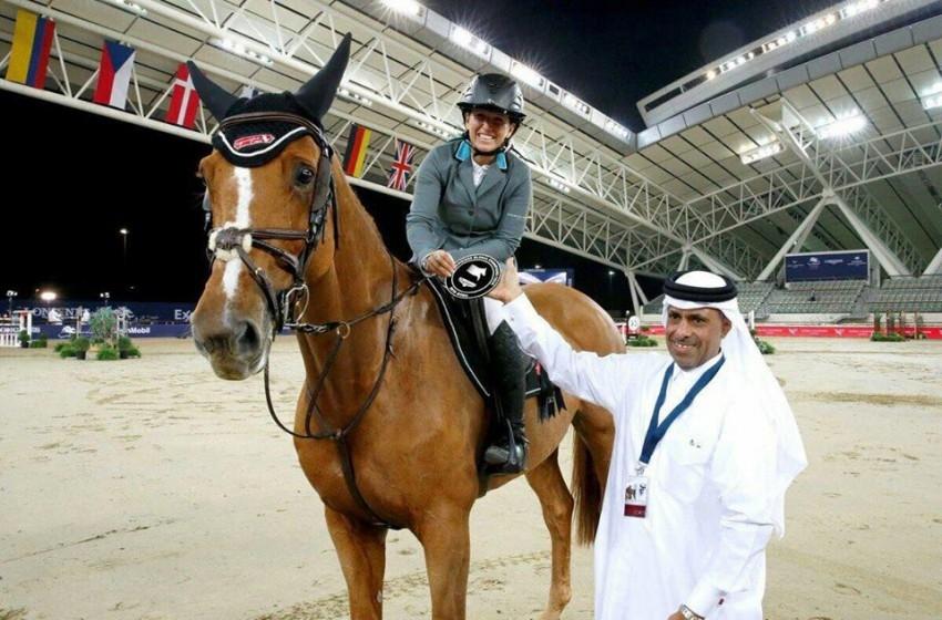 الفارسة الإسرائيلية تحفل فى قطر