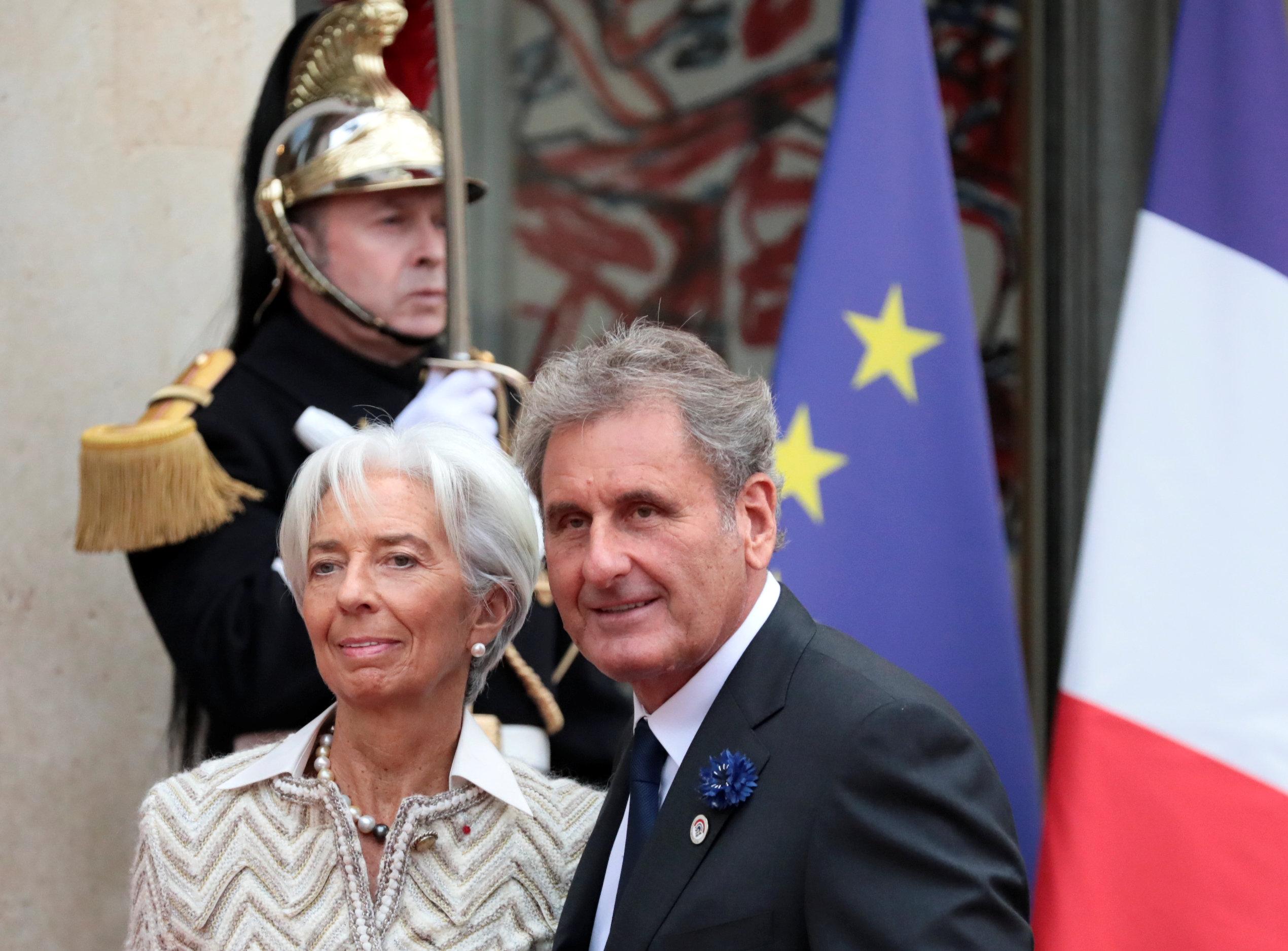 مدير صندوق النقد الدولى كرستين لاجارد وزوجها