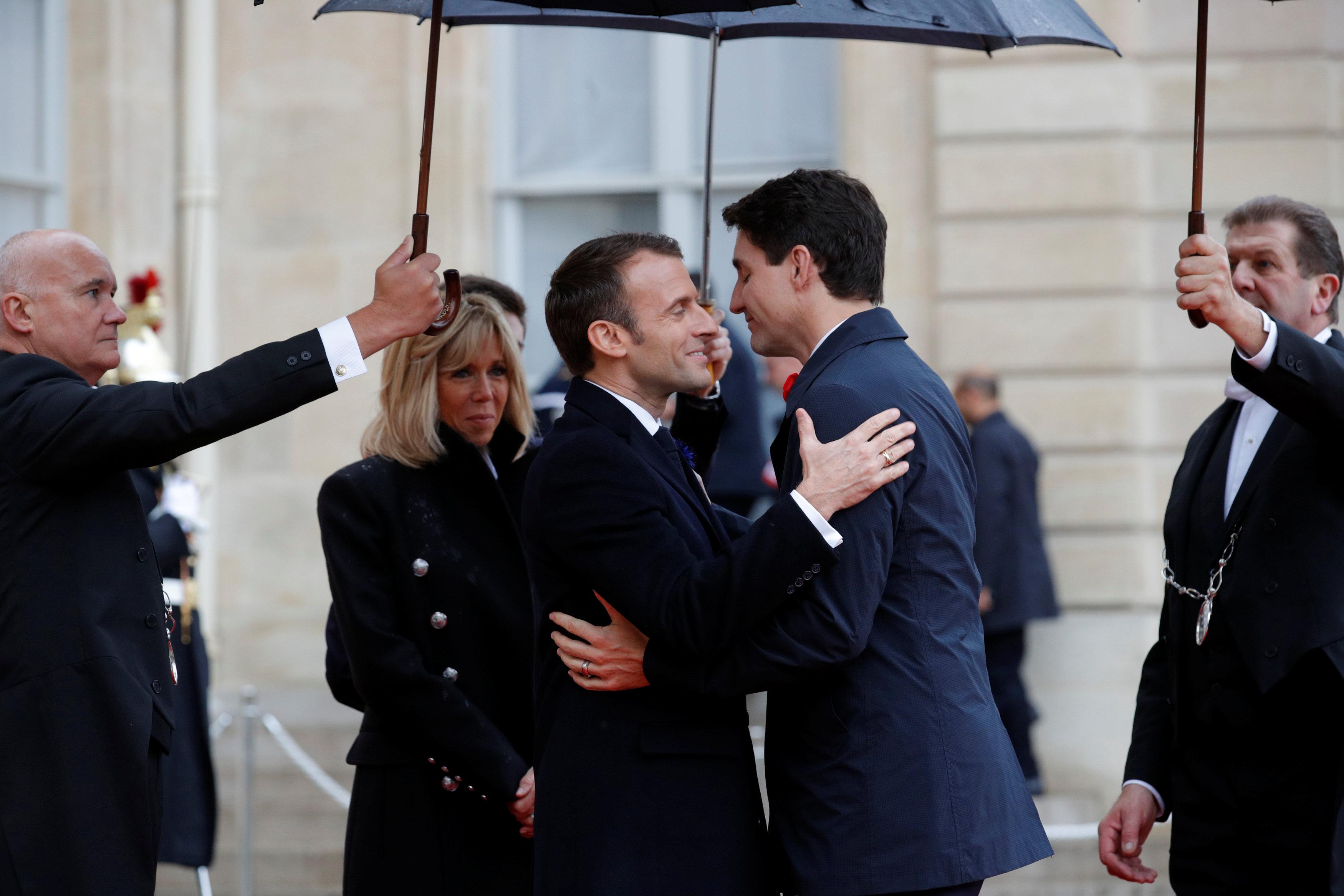 ماكرون يستقبل رئيس وزراء كندا جاستن ترودو