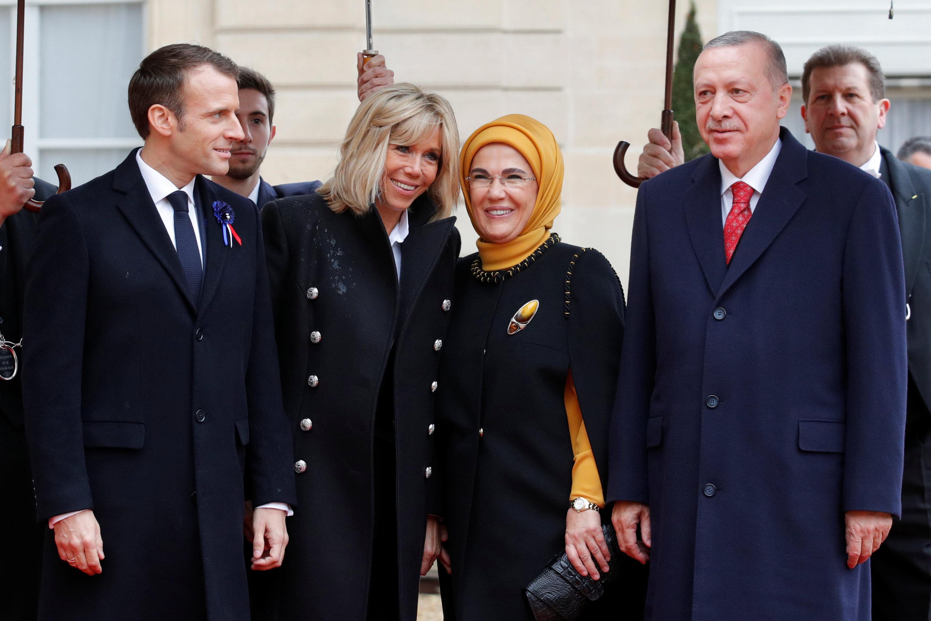 ماركون يستقبل الرئيس التركى رجب طيب أردوغان