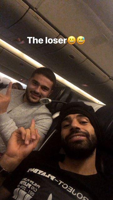 محمد صلاح فى الطائرة