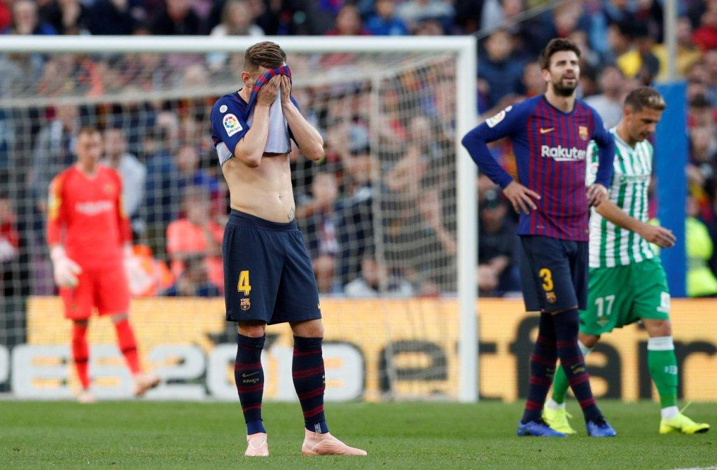 انهيار دفاع برشلونة ضد بيتيس