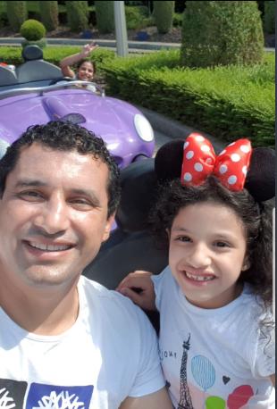 هيثم فاروق وابنته