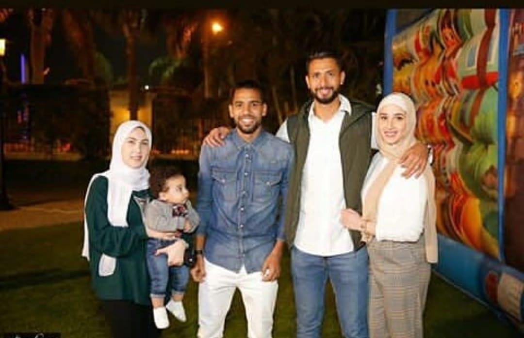 مؤمن زكريا و زوجته فى عيد ميلاد نجل أحمد عادل