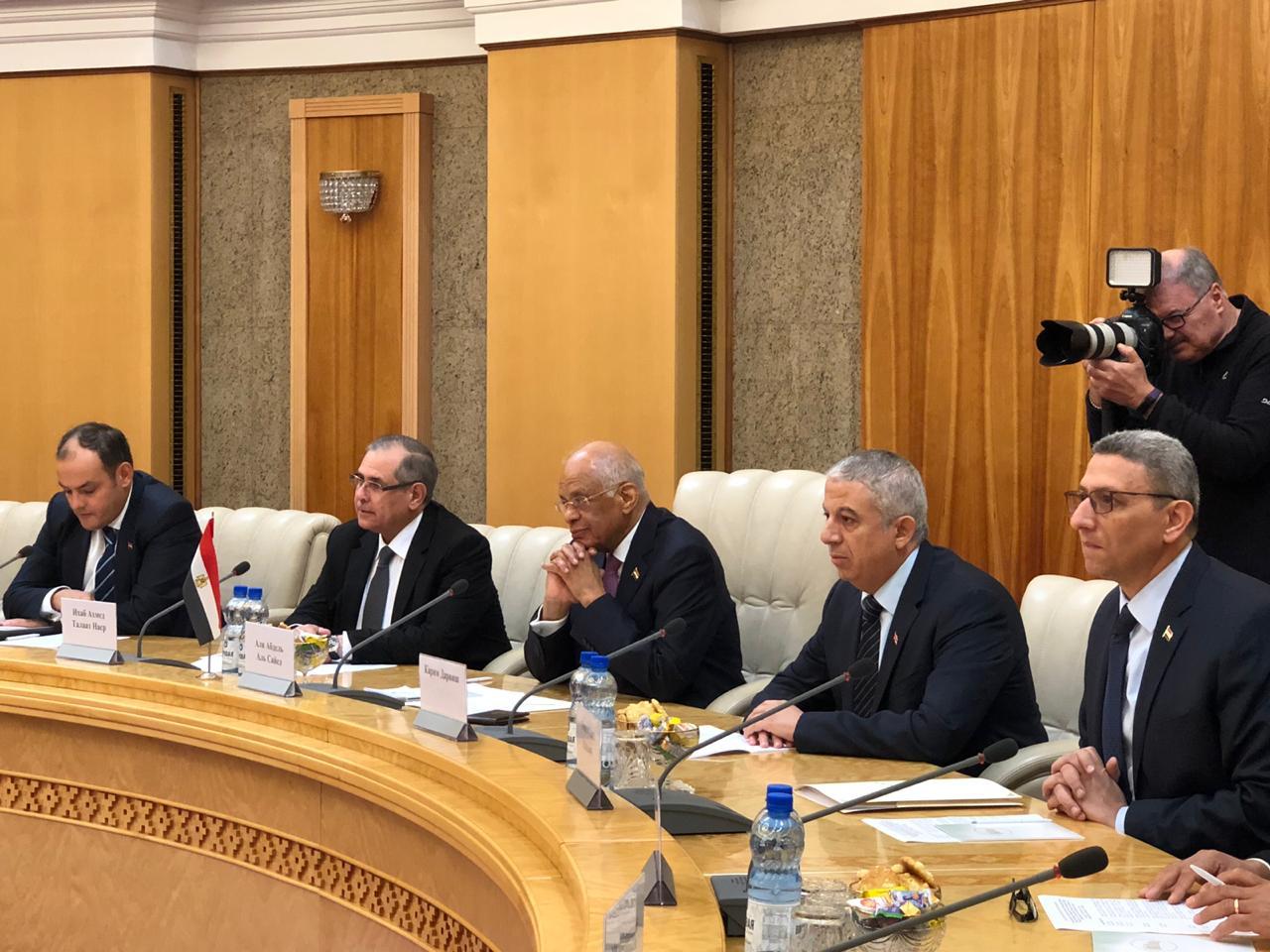 الدكتور على عبد العال يلتقي رئيسى غرفتى برلمان بيلاروسيا (6)