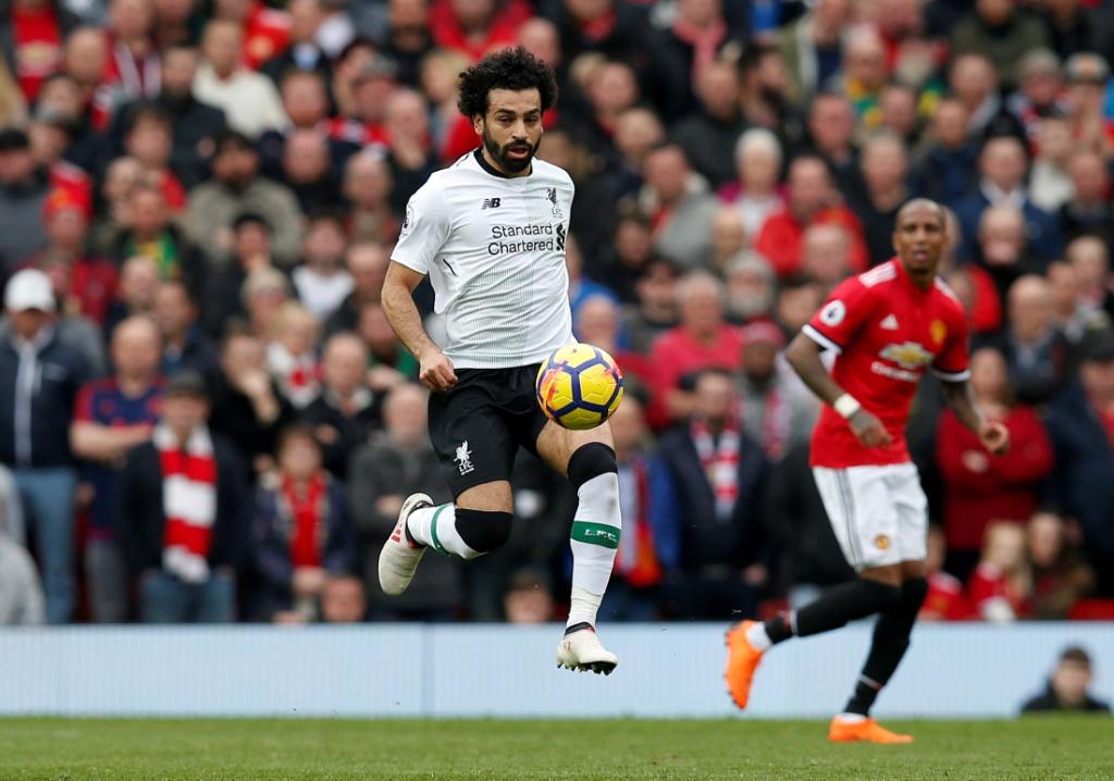 محمد صلاح في مباراة ليفربول ومانشستر يونايتد