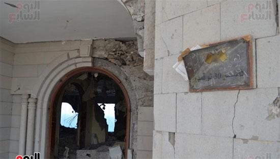 إحدى-بوابات-قصر-معاشيق--بمنطقة-كريتر-الذى-قصف-بصواريخ-الحوثيين-فى-2015