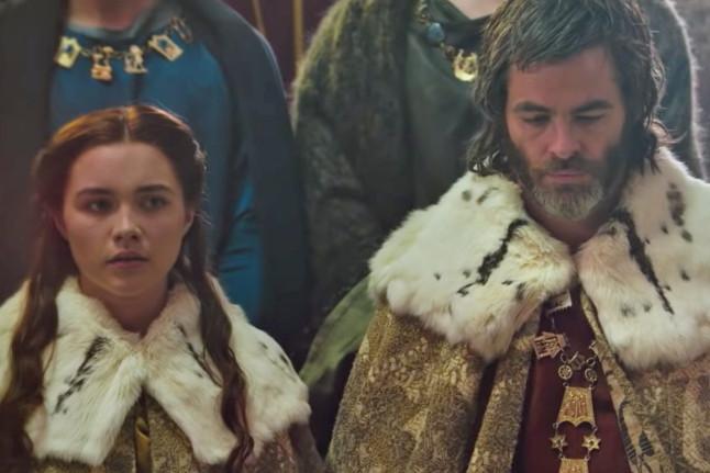 مشهد زواج ملك اسكتلندا فى فيلم الملك الخارج عن القانون