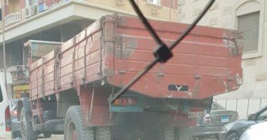 سيارات النقل الثقيل بشارع المريوطية