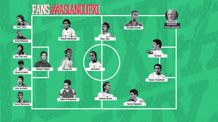The historic squad of the Asian Cup