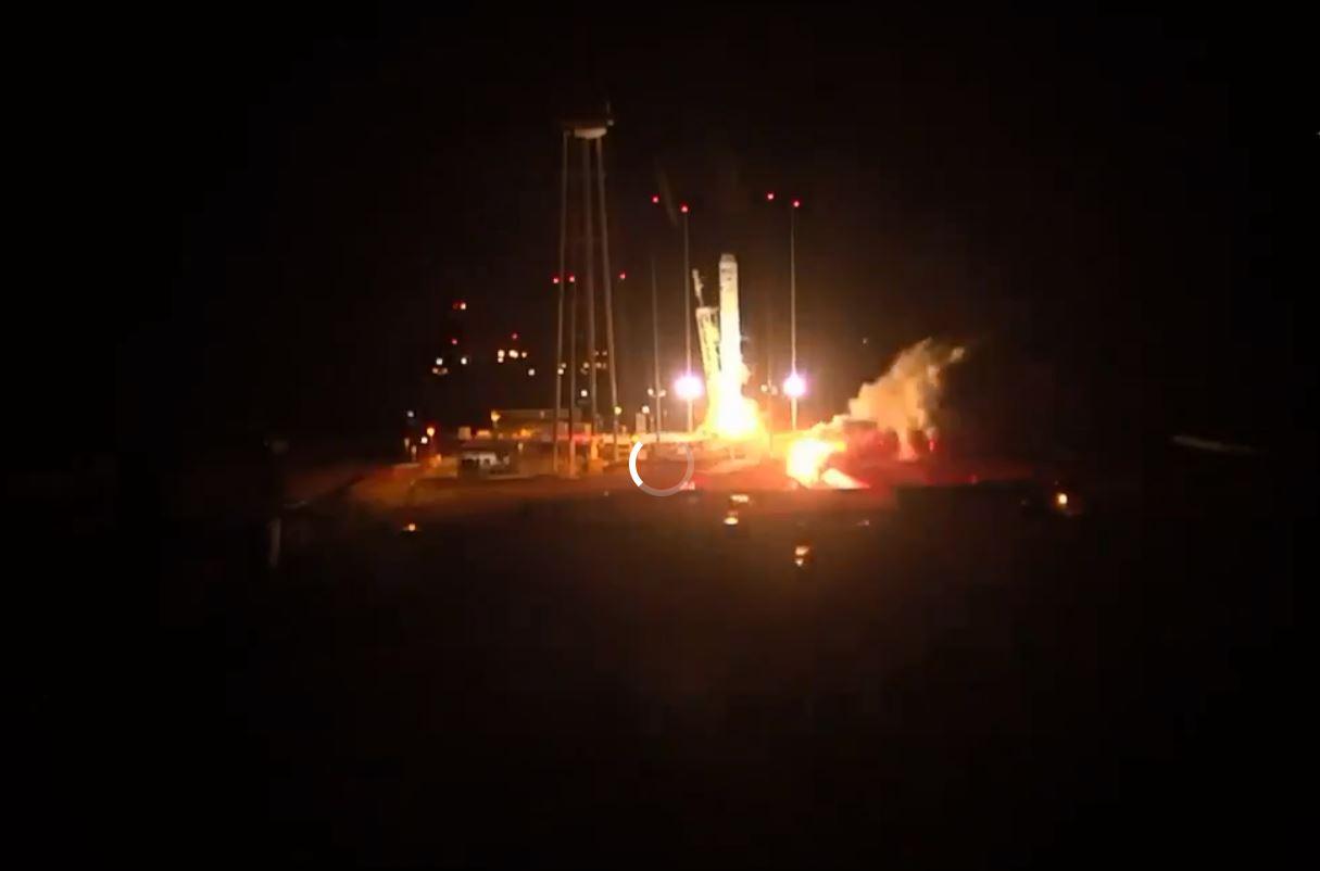 لحظة إطلاق مركبة الفضاء Cygnus