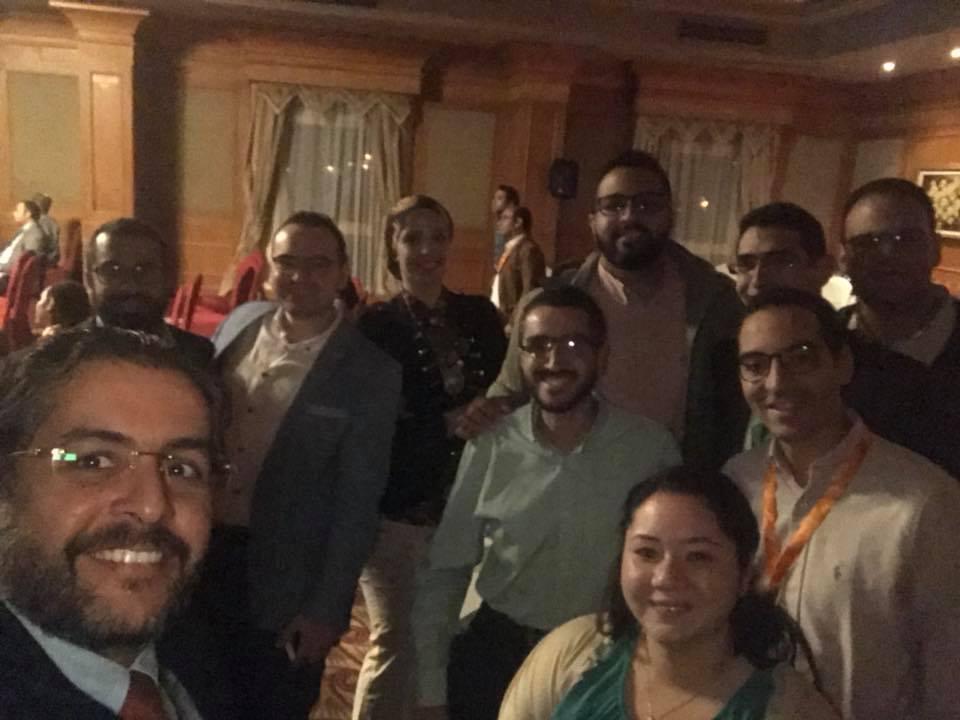 الدكتور وائل غانم على هامش المؤتمر