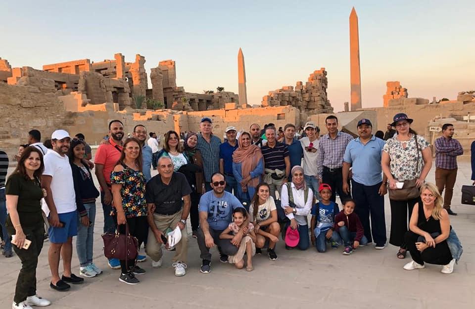 الخبراء المشاركين فى المؤتمر خلال الجولة السياحية