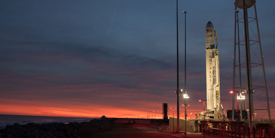 مركبة الفضاء Cygnus فى محطة الإطلاق