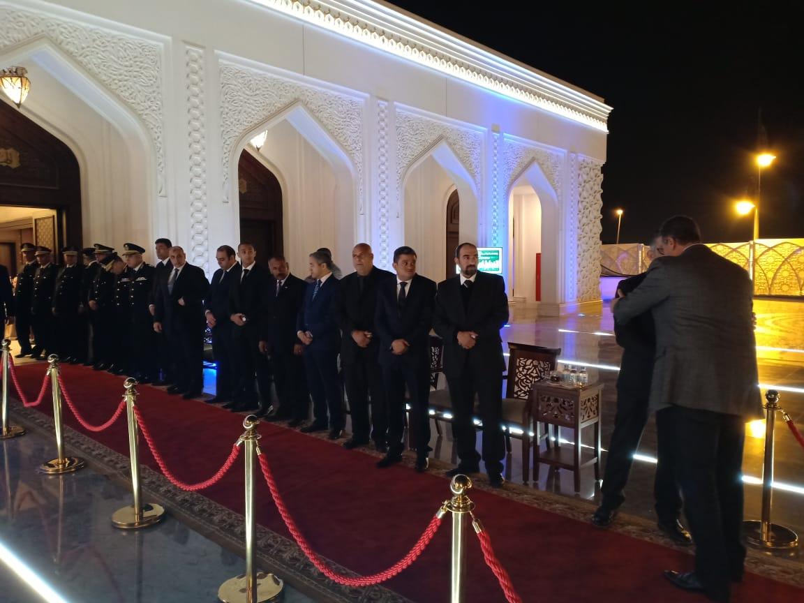استقبال المعزين بمسجد الشرطة