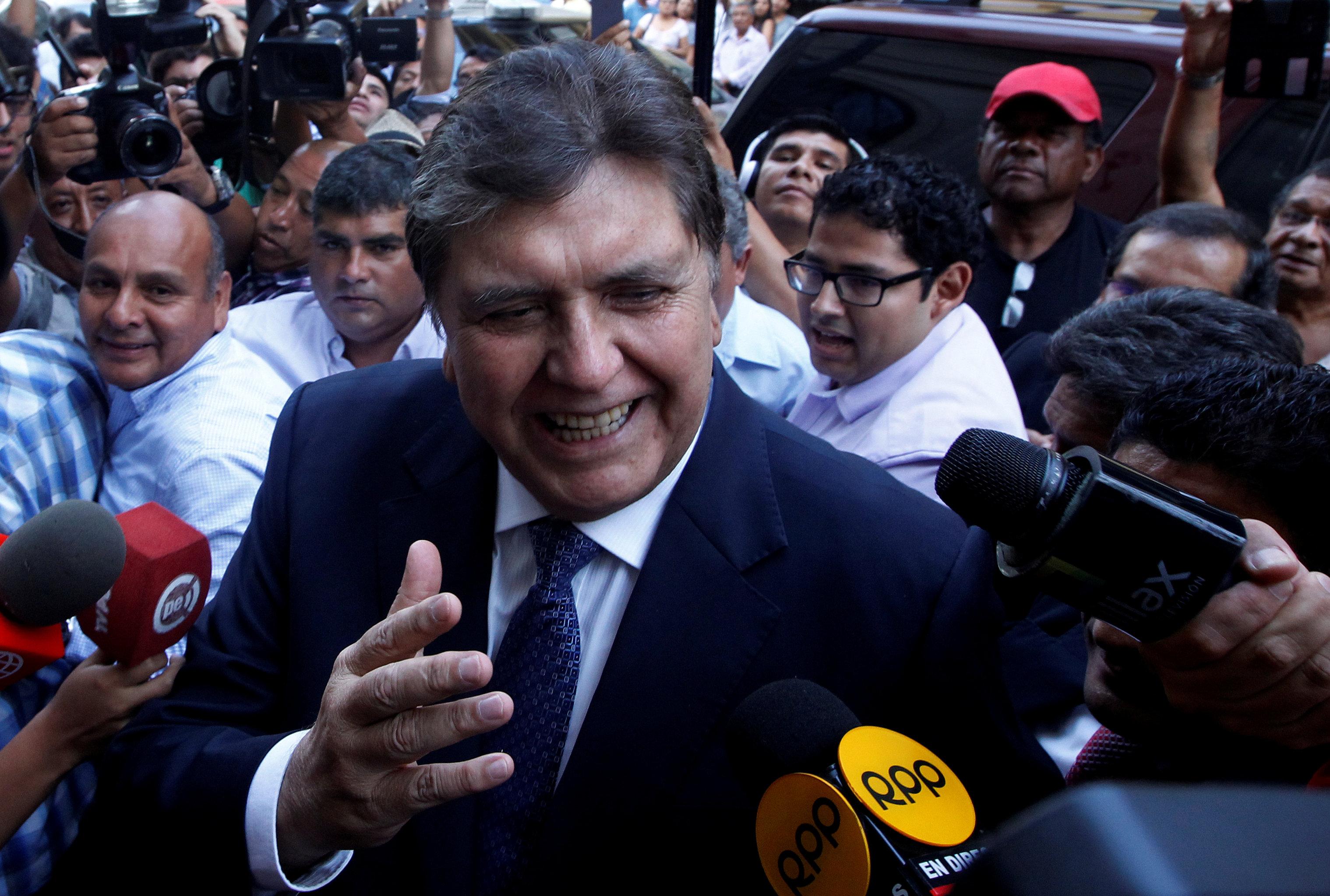 الرئيس السابق لبيرو ألان جارسيا