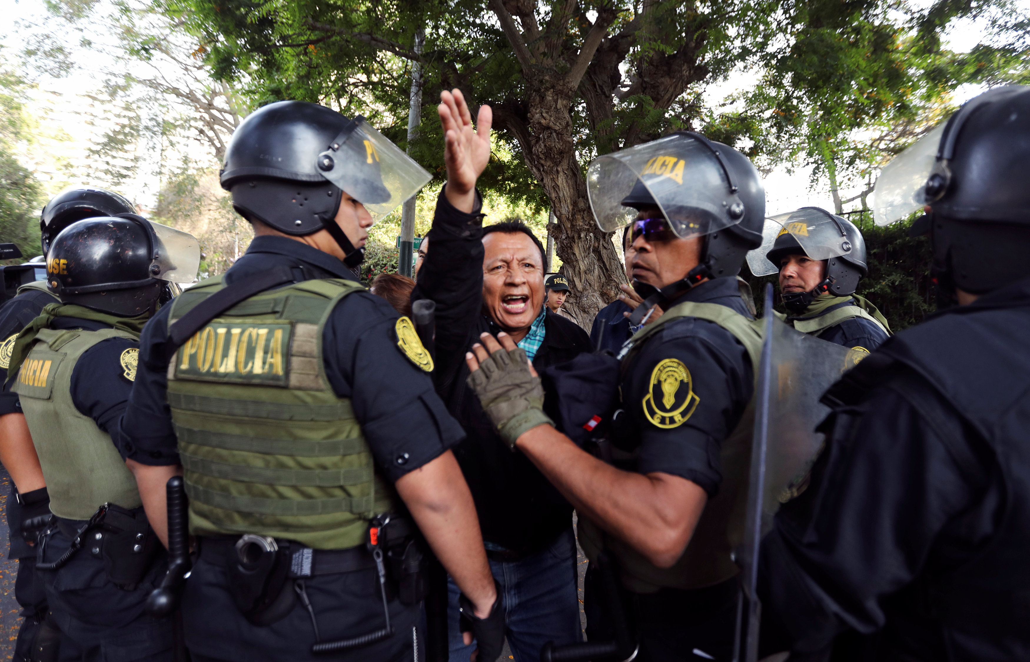 تواجد شرطة بيرو
