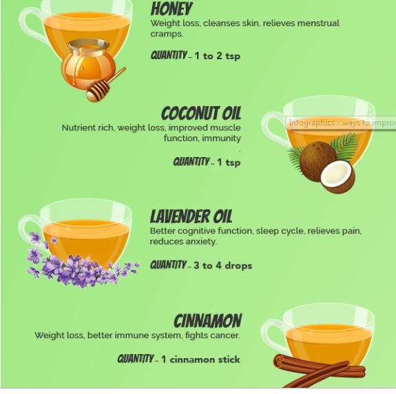 الشاى مع اضافات متعددة له