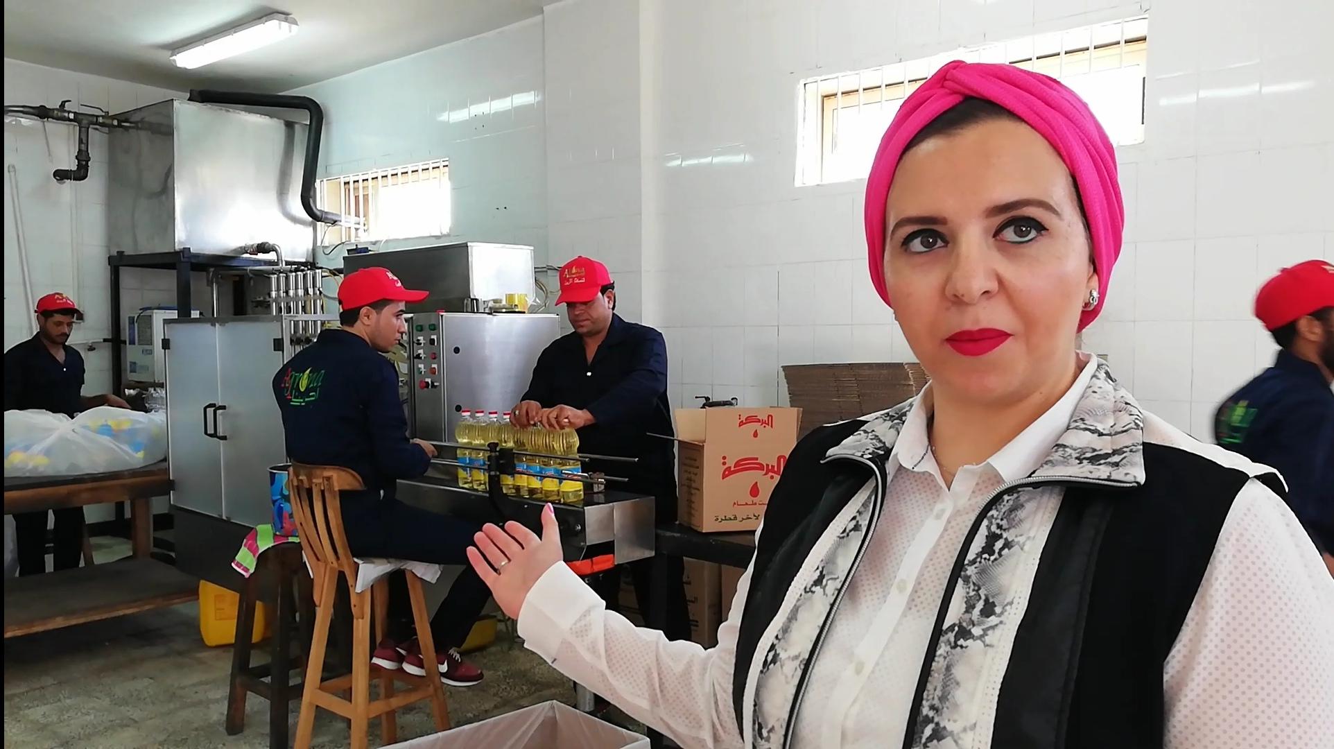 رانيا المهدى، صاحبة مصنع لتعبئة الزيوت بمدينة الغردقة (1)