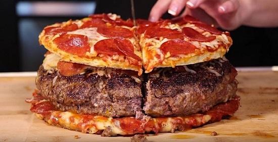 طريقة عمل برجر البيتزا (6)