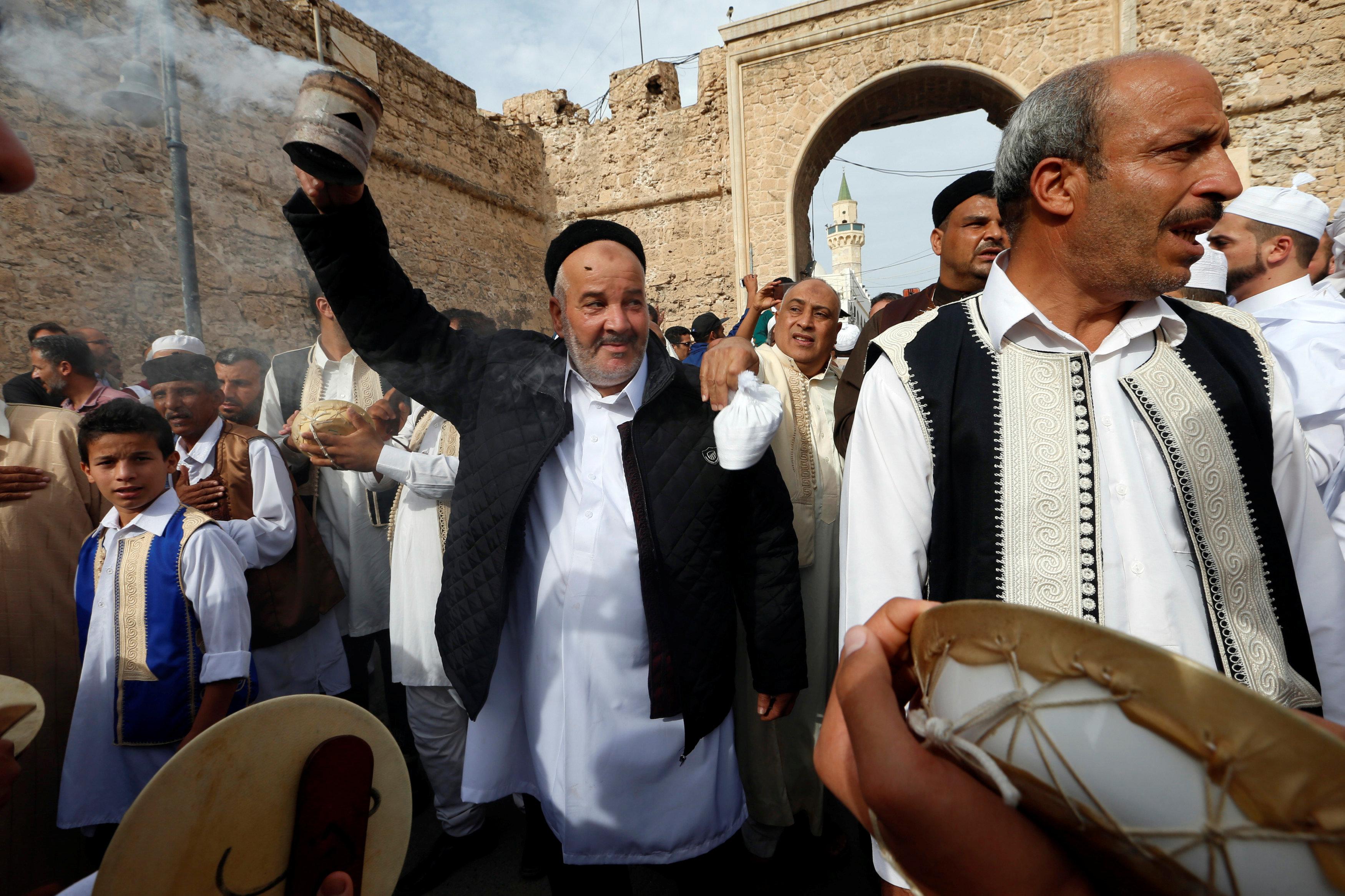 جانب من الاحتفالات فى ليبيا
