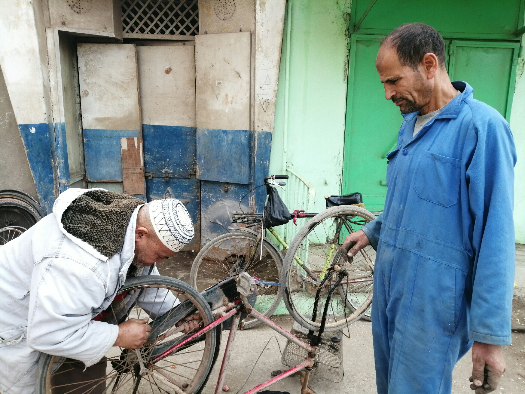 Mohammed Hasan is a bicycle and next to his owner
