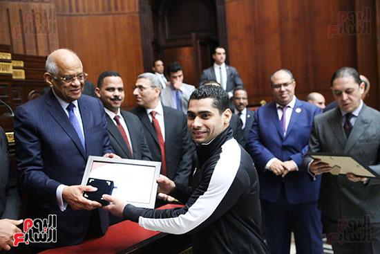 تكريم ابطال الالعاب الالومبيه بمجلس النواب (23)
