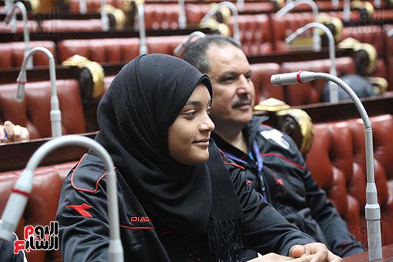 تكريم ابطال الالعاب الالومبيه بمجلس النواب (9)