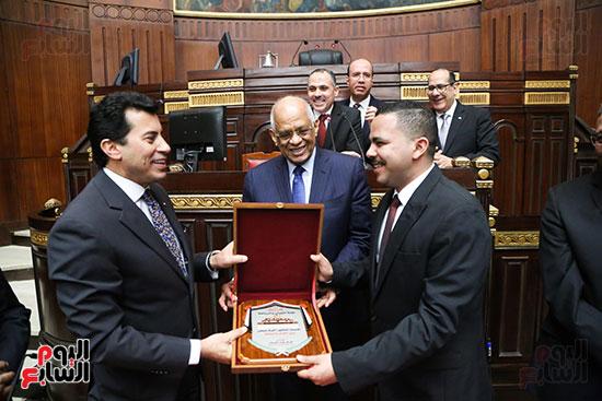 تكريم ابطال الالعاب الالومبيه بمجلس النواب (24)