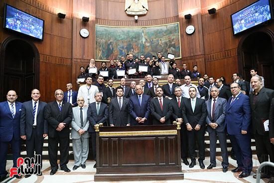 تكريم ابطال الالعاب الالومبيه بمجلس النواب (26)