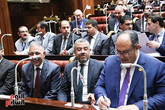 تكريم ابطال الالعاب الالومبيه بمجلس النواب (2)