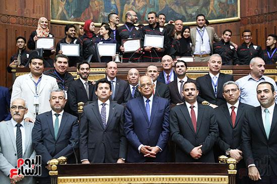 تكريم ابطال الالعاب الالومبيه بمجلس النواب (25)