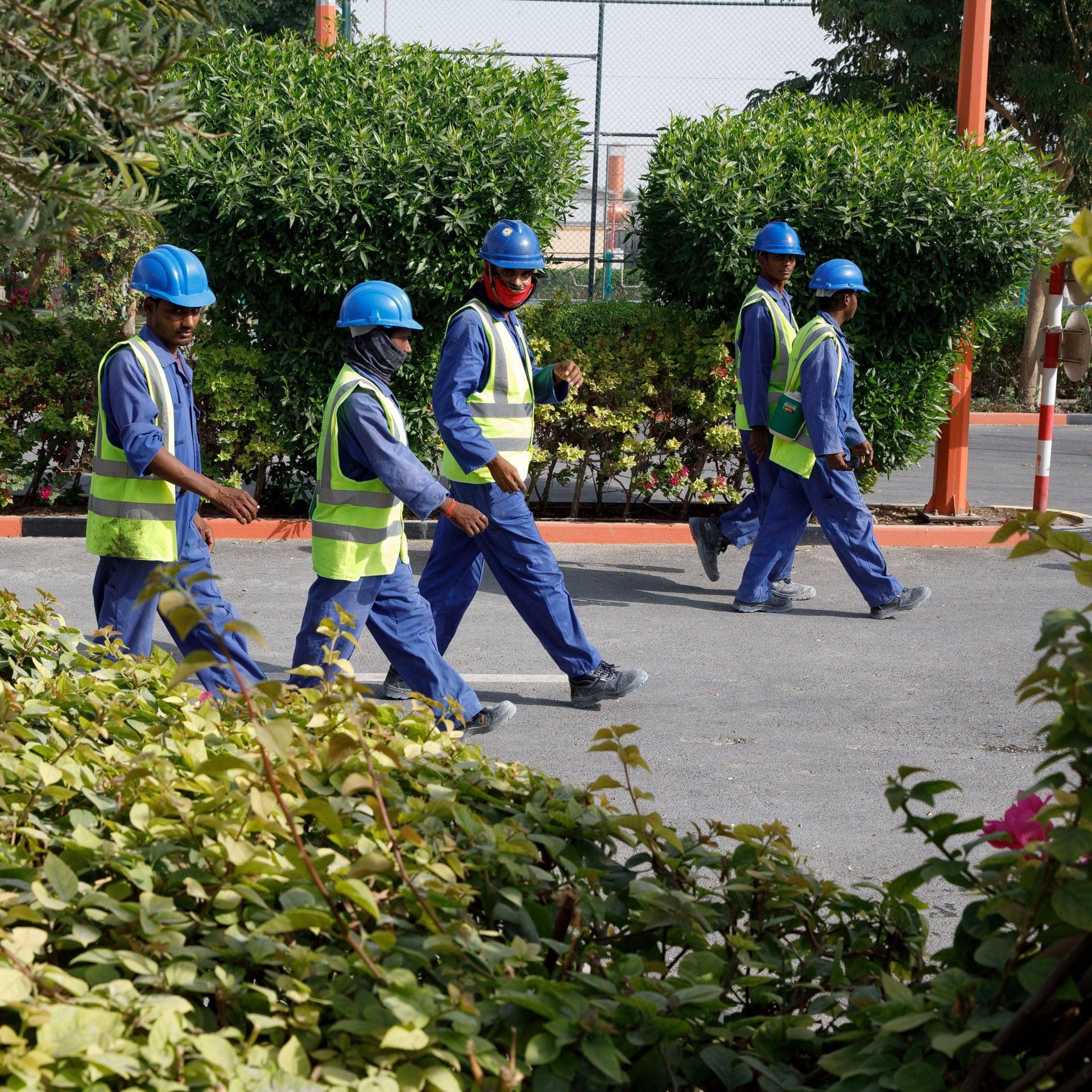 العمال فى الدوحة