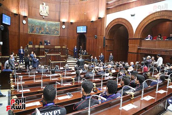 تكريم ابطال الالعاب الالومبيه بمجلس النواب (18)
