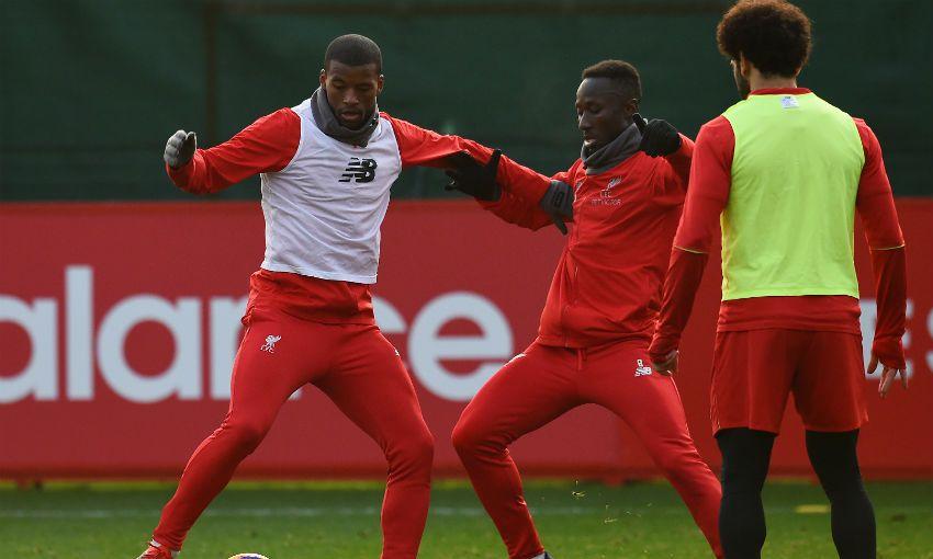 جانب من تدريبات ليفربول