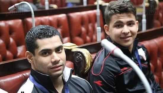 البطل الأوليمبى محمد إيهاب