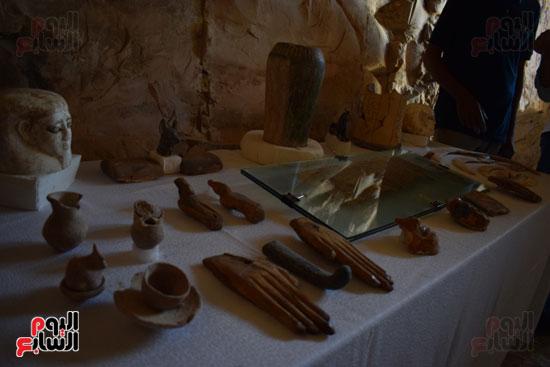 وزير الآثار يعلن اكتشاف مقبرة ثاو آر خت إف بالأقصر (15)