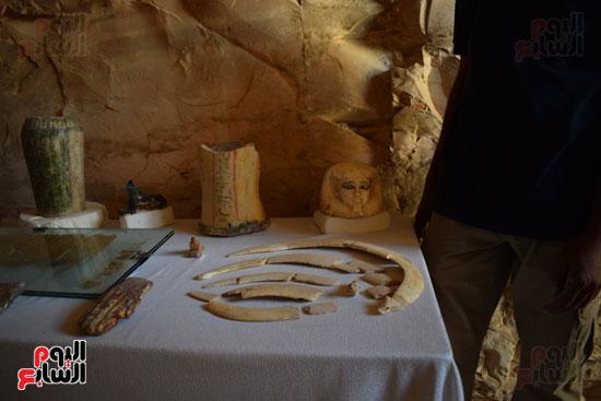 وزير الآثار يعلن اكتشاف مقبرة ثاو آر خت إف بالأقصر (14)